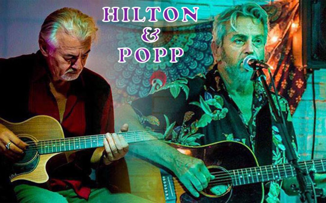 Mark Hilton & Paul Popp in the sun.